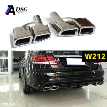 Square Exhaust Muffler Tips For Mercedes E Class W212 & W204 Amg E63 - Buy  W212 Exhaust Tips,Amg Muffler For Mercedes,Amg W212 Exhausts Muffler Tips
