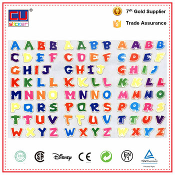 wholesaler alphabet letter stickers abcd sticker manufacturer