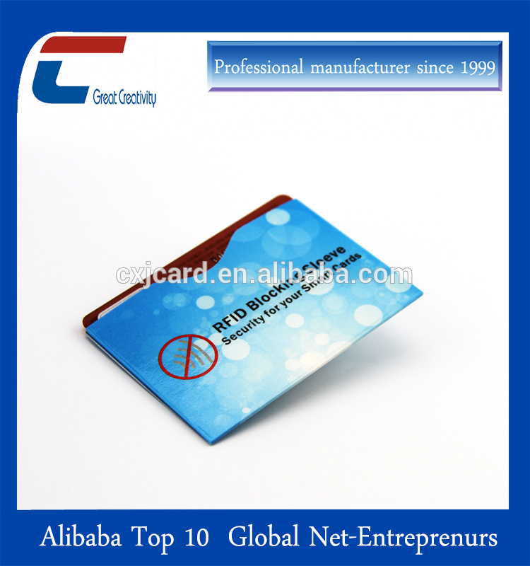 Aluminum foil rfid blocking card sleeve, Card and Passport protector
