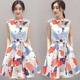 WAT1785 2016 Korean design summer dress women print dress