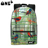 ONE2 design Hot selling bamboo forest birds pattern girls school bag