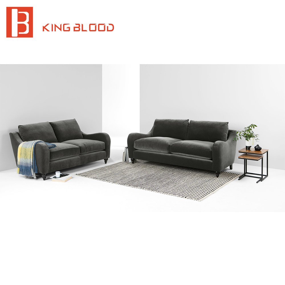 2 seat arabic modern living room velvet sectional sofa modular seating furniture