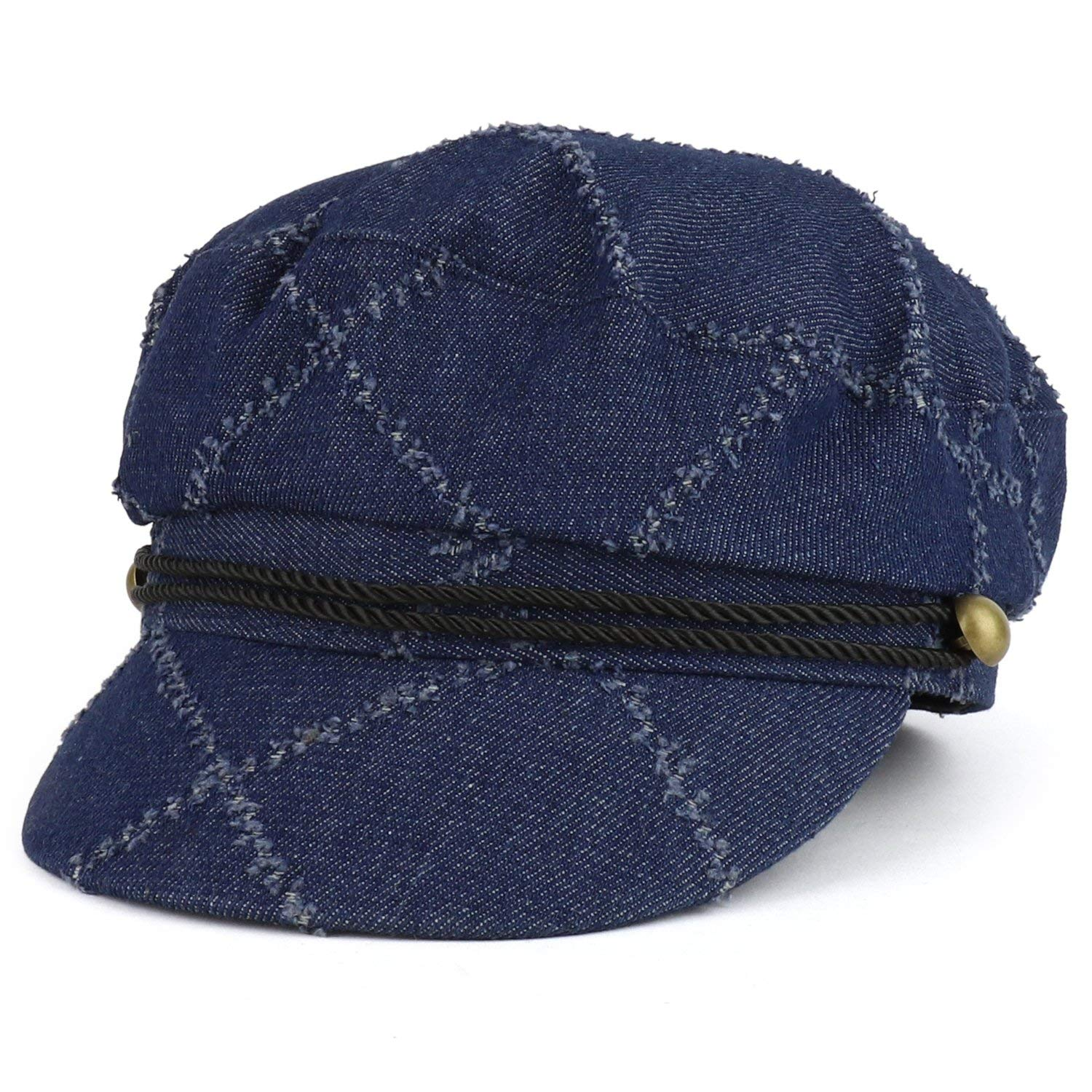 f9ca1ca41 Buy Trendy Apparel Shop Denim Greek Style Newsboy Fisherman Hat with ...