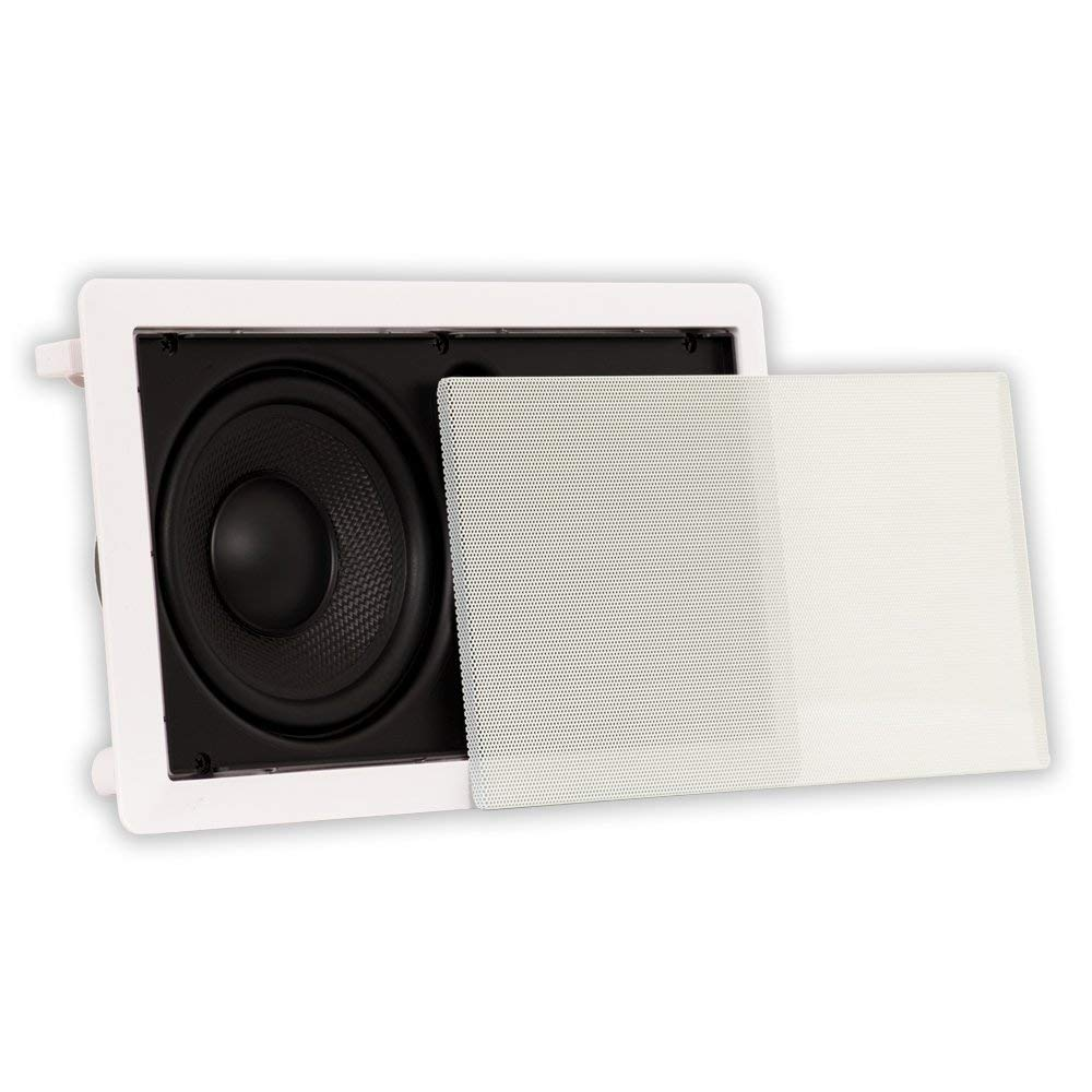 Theater Solutions by Goldwood Surround Center Channel Home Speaker, Set of 1, White (TSLCR65)