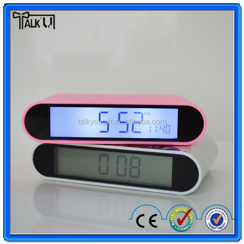 Special design do not need to open your eyes to flip alarm clock/table alarm clock