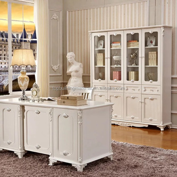 best selling classical French bookcase wooden home office furniture