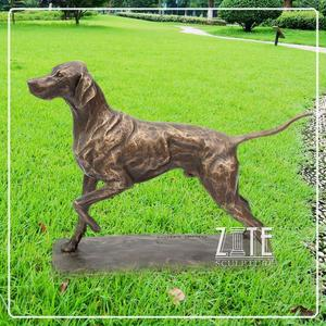 Beautiful Classic bronze lovely small dog sculpture