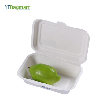 YTBagmart Paper Pulp Biodegradable Sugarcane Bagasse Lunch Box