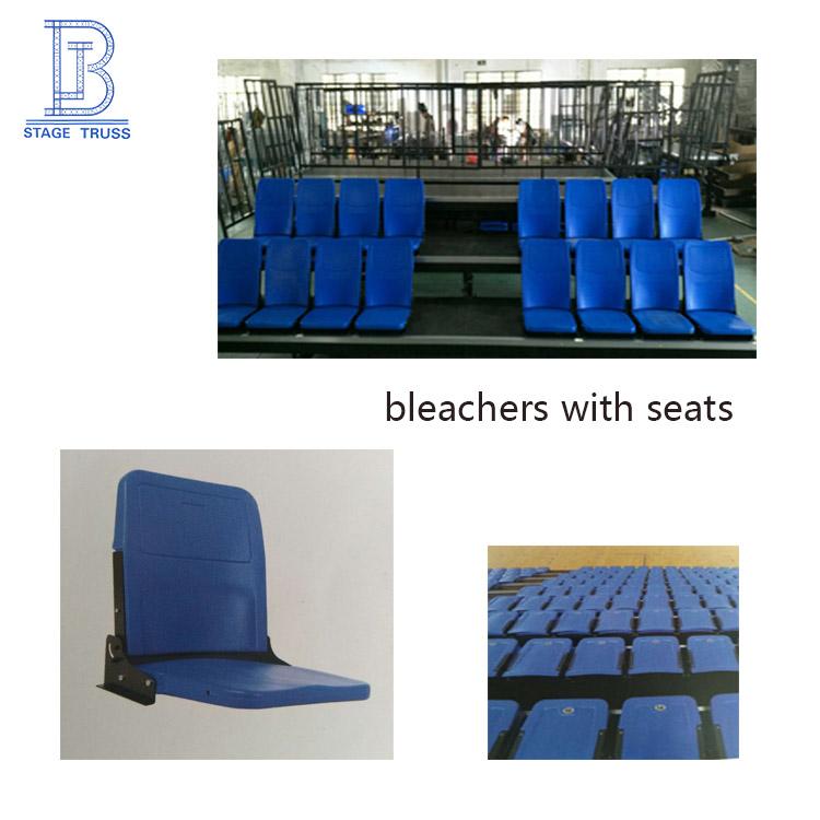 Montar bleacher de bancada de arquibancadas de basquete portátil com cadeiras