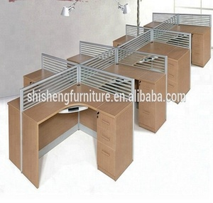 Elegant office furniture MDF top table and chair modern for office