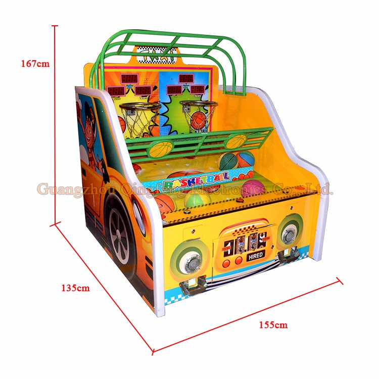Family Taxi Basketball arcade shooting ball  games machine sale for super market