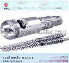 Excellent quality classical pvc pipe conical twin screw barrel