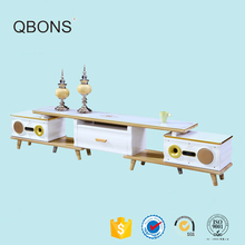 2017 new design white Bluetooth wireless connection wholesale universal tv stand