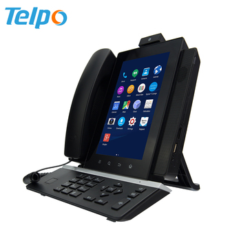 Telpo V100 Smart Fixed Skype Video Ip Phone With Android System - Buy Video  Ip Phone,Ip Phone With Android System,Android Ip Phone Product on