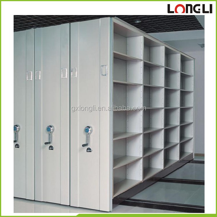 Office Large Capacity Closed High Density Steel Mobile File ...