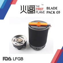 Camping gas stove and pot, outdoor equipment for hiking and backpacker BLADE PACK 03