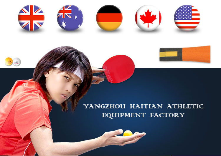 Good quality ITTF rubber table tennis