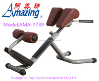 Commercial Roman chair gym fitness equipment Adjustable Hyperextension Bench Stretching exercise AMA-7739