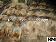Factory wholesale 100% Genuine Scrap Fox Fur Plates for home decoration