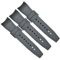 Custom Classic Curved End Durable Rubber Silicone Watch Strap Band