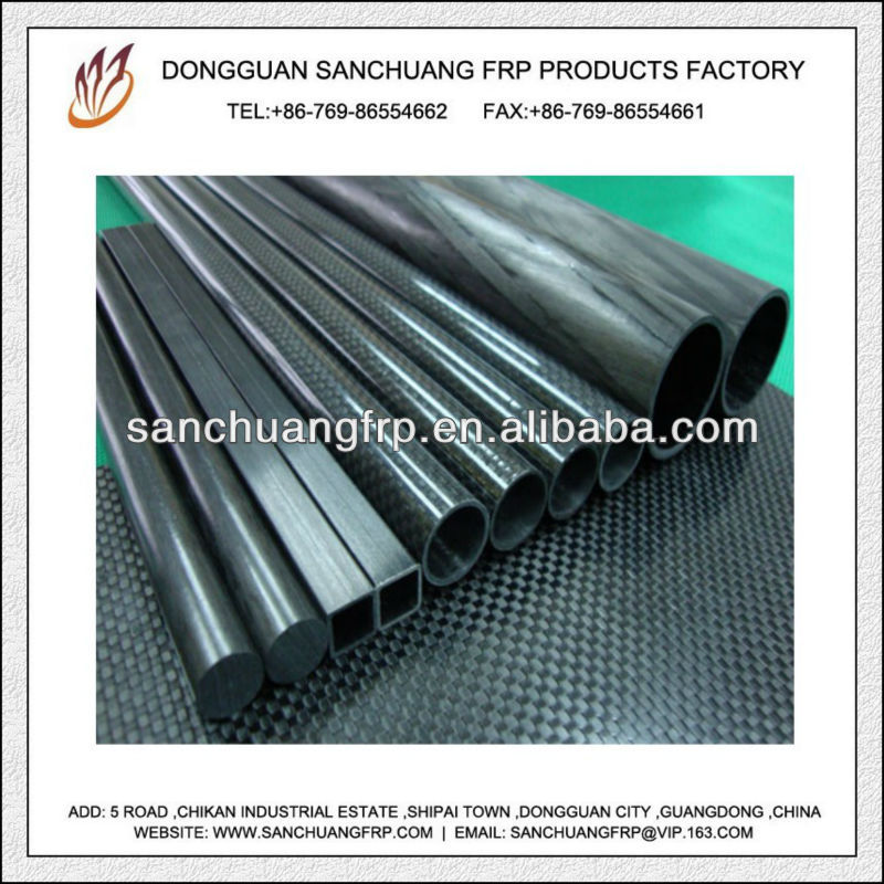 Solid or Hollow Carbon Fiber Round and Square Tube