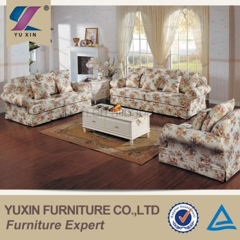 Attractive American Country Style Romatic Floral Print 1+2+3 Sectional Sofa Set