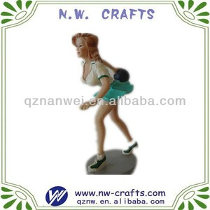 New item resin sexy bowling girl figurines