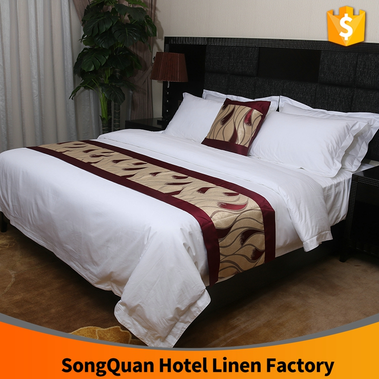 Guangzhou hotel textile supplier, professional hotel bed linen, bed sheet set