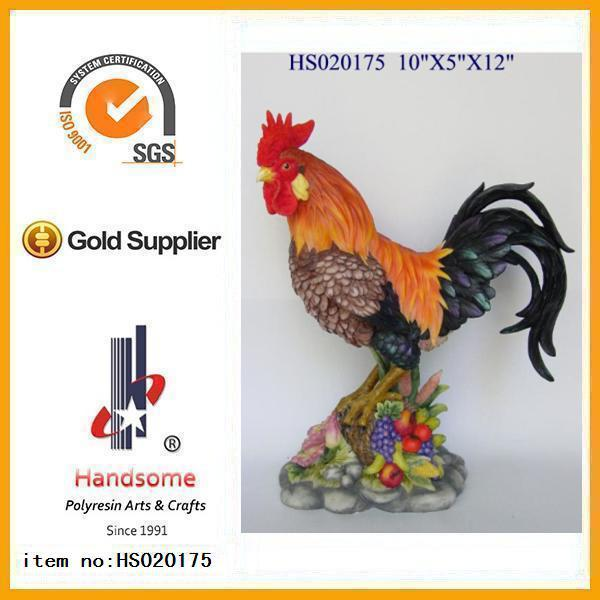 Resin animal funny polyresin rooster garden statue