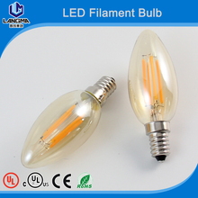 2017 2W 4W 6W E14 E12 220V 110V AC dimmable lamp light warm/cold white Chandelier crystal lamp C35 LED Filament Candle Bulbs