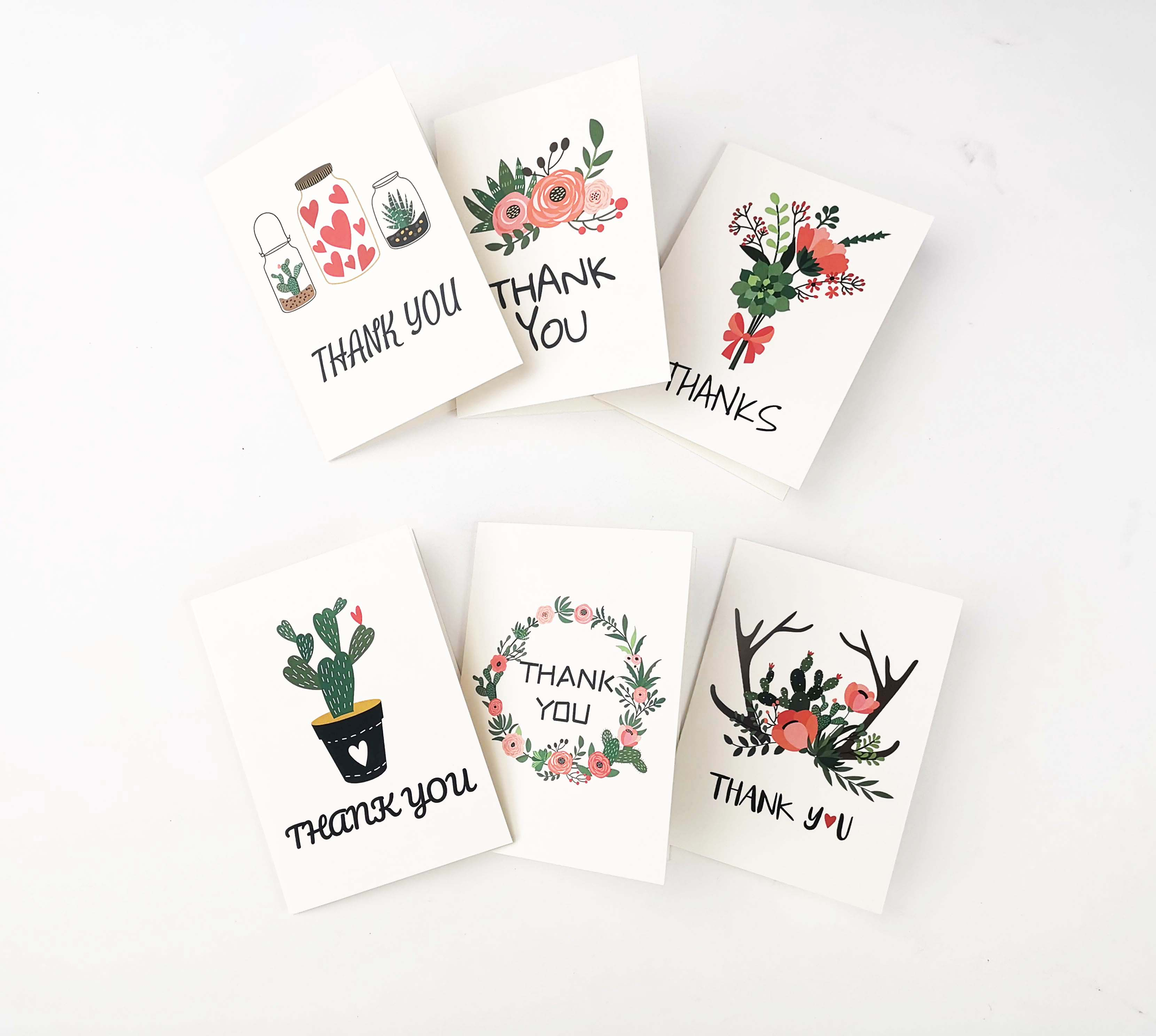Wholesale Floral Note <strong>Cards</strong> 36 Packs Thank You <strong>Card</strong> Sets With Envelopes
