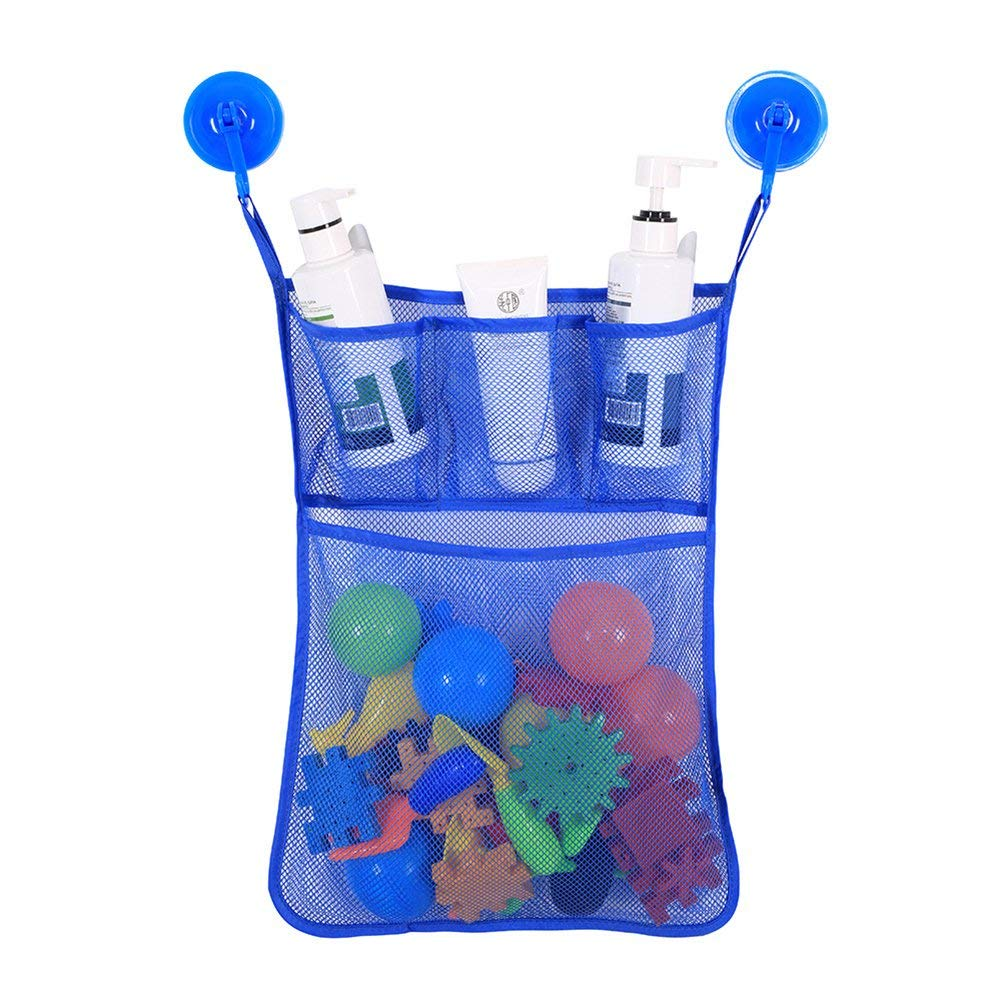 ieasysexy Baby Bathroom Bags Storage Hanging Bag Children Toy Storage Bag Waterproof and Durable Home Bag (Blue)