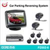 3.5'' lcd display front & rear car camera 6pcs parking sensor blind spot parking assistance system