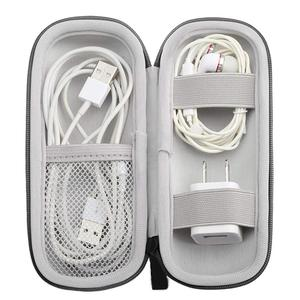 Portable Cord Winder USB Cable Pouch Earphone Storage Phone Charges Organizer Wired Earbuds Keeper for Travel