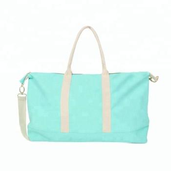 Cfp B193 Canvas Weekender Duffel Bag Monogram Product On Alibaba