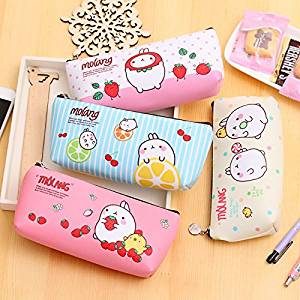 Get Quotations Katoot Cute Molang Rabbit Pencil Case For S Kawaii Pu Leather Stationery Pouch Bags Korean
