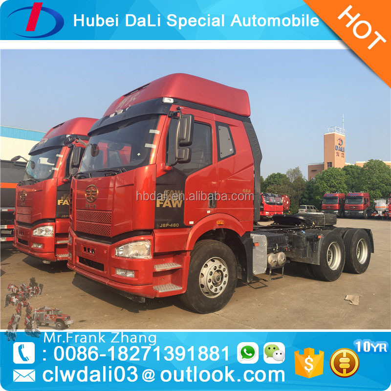 FAW tractor truck 6x4 460hp trailer head truck for sale