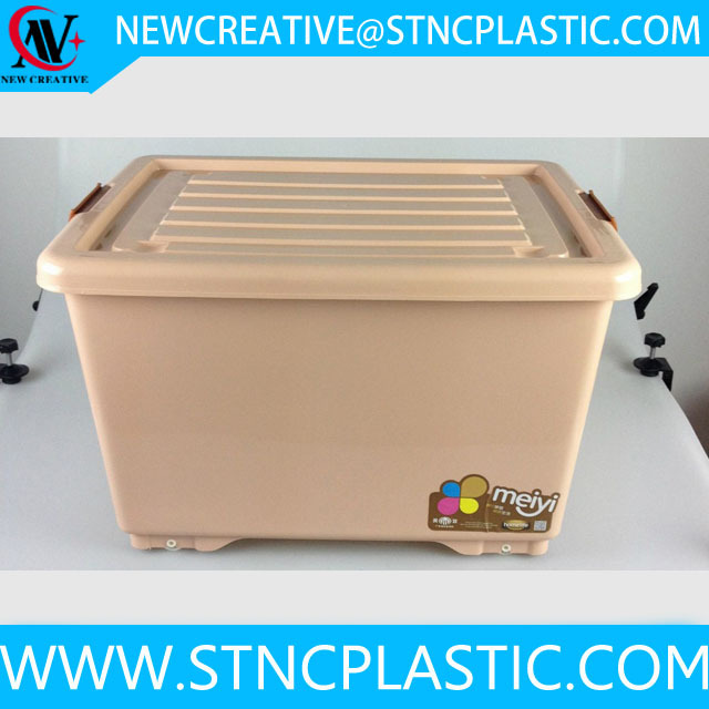 houseware plastic storage container with lid 50L