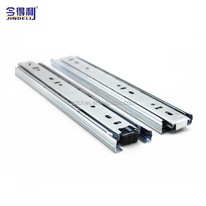 35mm Furniture Hardware Cabinet Soft Closing Drawer Runner 3 Floding Ball Bearing Drawer Slide
