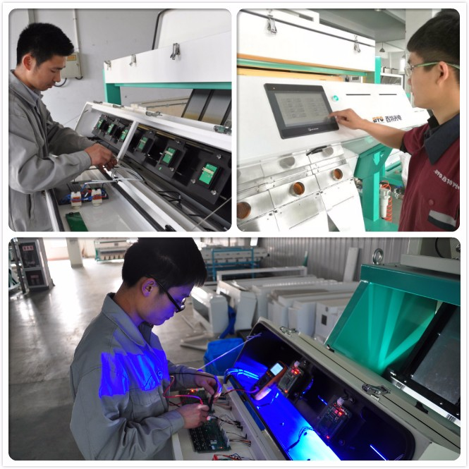 LED Auto CCD Rice Color Sorting Machine With Good Color Sorter Ejector