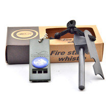 2016 survival gear Magnesium Flint Fire Starter with whistle manufacturer alibaba recommend