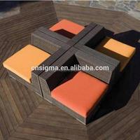 2017 Trade Assurance most popular aluminium frame rattan hd designs outdoor wicker chair furniture