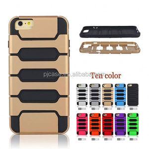 for iphone 6 6 plus/6s 5s 4s case/mobile phone back cover/PC+TPU tank style combo phone case