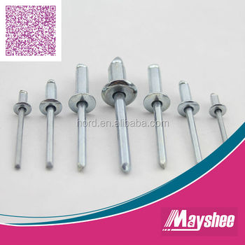 Pop Rivets Dome Open stainless Body 5.0mm x 16mm Blind 50PK Stainless Stem