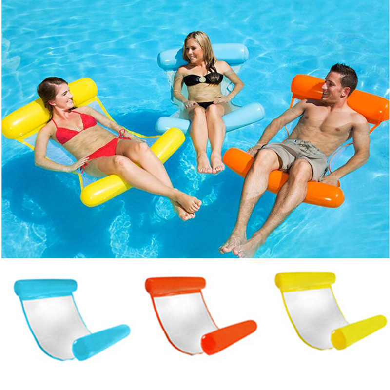 Water Lounger Hammock Pool Float Swimming Pool Water Float Inflatable Hammock