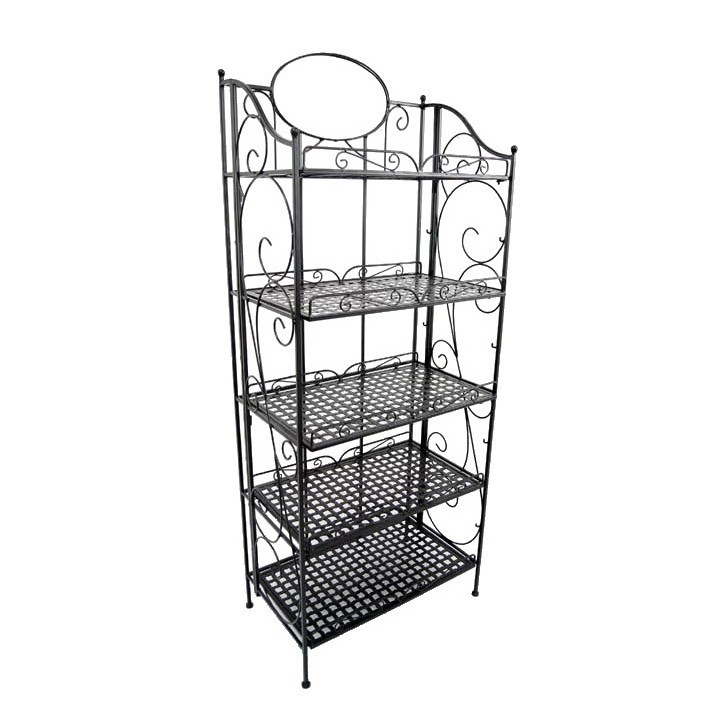 Kitchen Furniture Wrought Iron Shelf 5 Tiers Metal Bakers Rack - Buy Bakers  Rack,Wrought Iron Shelf,Kitchen Metal Shelf Product on Alibaba.com