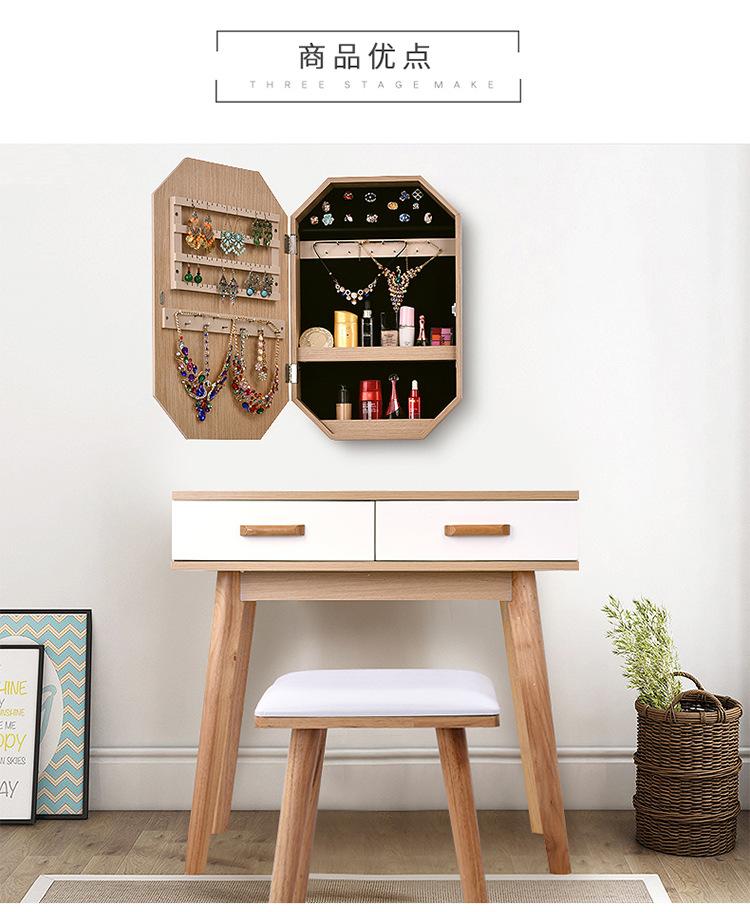 Whole Nordic Eco Friendly Bedroom Versatile Simple Modern Solid Wood Dressing Table With Storage Vanity Mirror Drawer Makeup