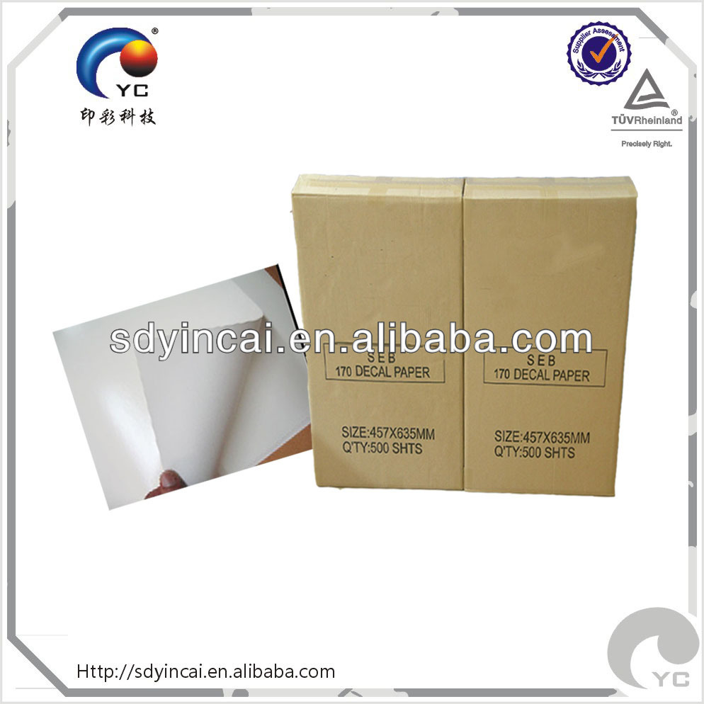 Clear water transfer decal paper manufacturer