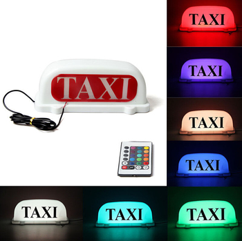 7 Color Changeable Magnetic Car Roof Taxi Top Light With Remote ...