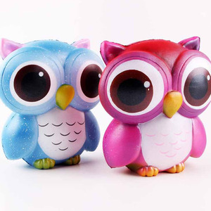 High Quality 100L*73W*117H mm Squishies Owl Toys Slow Rising Soft PU Animal Reliever Stress Gift 2018